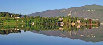Landscape at Lake Orta,Italy Stock Photos