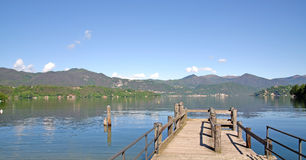 Landscape at Lake Orta,Italy Stock Image