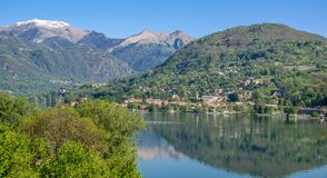 Landscape at Lake Orta,Italy Royalty Free Stock Photos