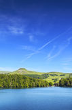 Landscape of Lake Pavin in Auvergne Royalty Free Stock Image