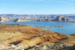 Landscape of lake Powell, Colorado River, USA Stock Images