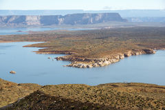 Landscape of lake Powell, Colorado River, USA Royalty Free Stock Image