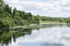 Landscape of the lake or river Stock Images