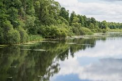 Landscape of the lake or river Stock Photo