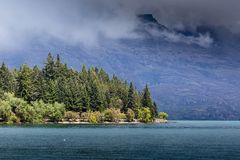 Landscape of lake in the south Island, Queenstown New Zealand Stock Photo