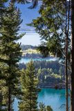 Landscape of lake in the south Island, Queenstown New Zealand Royalty Free Stock Images