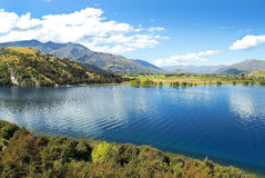 Landscape with lake in the south of New Zealand Stock Photo