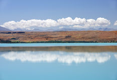 Landscape with lake in the south of New Zealand Stock Photos