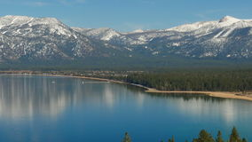 Landscape of the Lake Tahoe stock footage