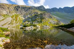 Landscape with lake in Tatra mountains Stock Photo