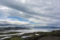 Landscape from lake Thingvallavatn in Iceland. Royalty Free Stock Image