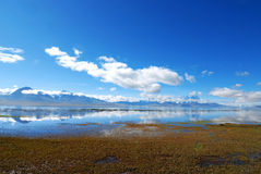 Landscape with lake in the tibet Royalty Free Stock Photo