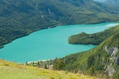 Landscape lake in Trentino Dolomiti Italy Royalty Free Stock Photos