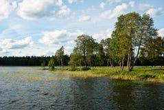 Landscape at Lake Valdai Stock Photography