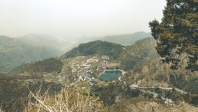 Landscape Lakeview in Nainital, India stock photography