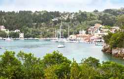 Landscape of Lakka village Paxos Greece Royalty Free Stock Photography