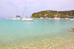 Landscape of Lakka village Paxos island Greece Stock Photography