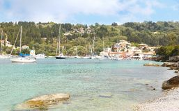 Landscape of Lakka village Paxos Greece Stock Images