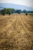 Landscape and land ground for cultivation in Umbria, Italian region. Italy. Stock Photo