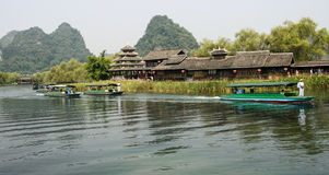 The landscape in  land of idyllic beauty of guilin scenic area Royalty Free Stock Images