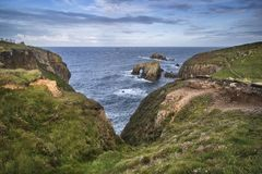 Beautiful landscape of Land`s End in England during beautiful Su Stock Images