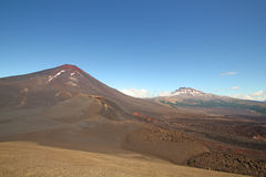 Landscape land of volcanoes., Chile Royalty Free Stock Photo