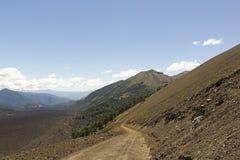 Landscape land of volcanoes, Chile Stock Image