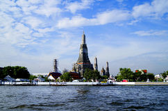 Landscape with landmarks in Bangkok on the river Chao Praya Stock Images