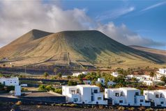 Landscape of Lanzarote Royalty Free Stock Images