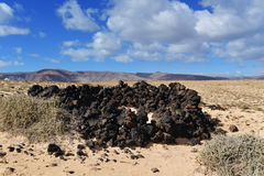 Landscape of Lanzarote, Canary Islands, Spain Royalty Free Stock Photos
