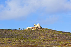 Landscape Lanzarote, Farmhouse near Haria in the mountains Stock Photo