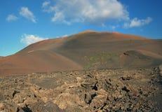 Volcanic stone desert landscape, Lanzarote island - Canary islands - Spain Stock Image