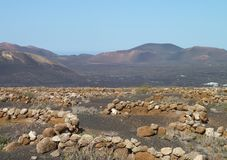 Landscape at Lanzarote Stock Photography