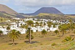 Landscape Lanzarote, Small town Haria Stock Photo