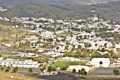 Landscape Lanzarote, Small town Haria Royalty Free Stock Photos