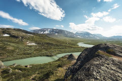 Landscape in Lapland, Sweden Royalty Free Stock Images