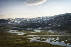 Landscape in Lapland, Sweden Stock Photography
