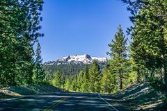 Landscape in Lassen Volcanic National Park. Travel towards Lassen peak, Lassen Volcanic National Park, California Stock Photography
