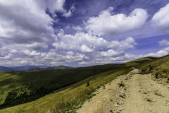 Landscape from Latoritei Valley in Romanian mountains in a cloudy day Stock Photography