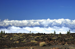 Landscape of lava, Teide National Park. Tenerife Stock Photos