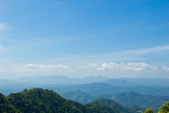 Landscape of layer mountain, north of Thailand Royalty Free Stock Photos