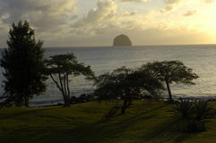 Landscape of Le Diamant in Martinique Royalty Free Stock Images