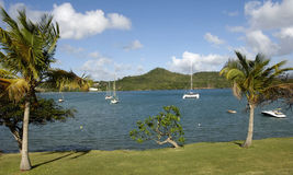 Landscape of Le Diamant in Martinique Stock Photos