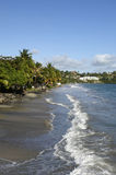 Landscape of Le Diamant in Martinique Royalty Free Stock Photos