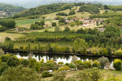Landscape from Le Jardin Marqueyssac gardens Royalty Free Stock Image