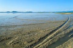 Landscape of leam hin seashore Stock Images
