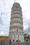 Landscape of the Leaning Tower in Pisa, Italy Stock Images