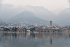 Landscape of Lecco Royalty Free Stock Photos