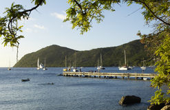 Landscape of Les Anses d Arlet, Grande Anse in Martinique Royalty Free Stock Photos
