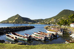 Landscape of Les Anses d Arlet, Petite Anse in Martinique Royalty Free Stock Photo